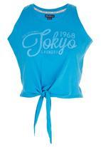 Tokyo Laundry - Brooke Tie up Tank Dark Blue