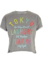 Tokyo Laundry - Erica Rolled Sleeve T-shirt Mid Grey
