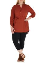 edit Plus - Longer Length Shirt Mid Brown