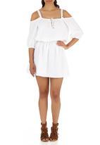 c(inch) - Peasant Mini Dress Milk