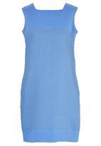 HABITS - Square Shift Dress Mid Blue