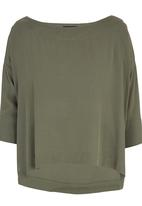 HABITS - Off Shoulder Top Khaki Green
