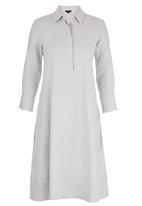 HABITS - A-line Shirtdress Grey