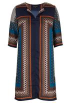G Couture - Border Print Tunic Navy