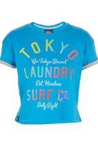 Tokyo Laundry - Erica Rolled Sleeve Tee Dark Blue