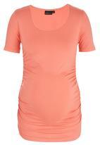 Cherry Melon - Short Sleeve Round Neck Top Orange