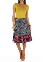 Sway - Flair Skirt Dark Purple