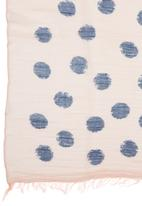 c(inch) - Sketchy Spot Scarf Pale Pink