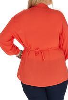 edit Plus - Pin Tuck Blouse Orange
