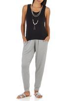 Me-a-mama - Harem Pants Grey Melange