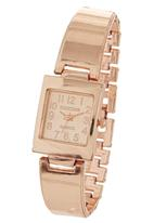 Digitime - Square Face Watch Rose gold