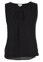 edit - Chiffon Overlay Cami Black