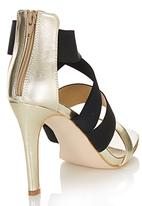 Madison® - Elastic Cross Over Heels Gold