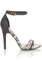 Madison® - Ankle Strap Heels Black