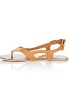 That's it - Cut Out Sandals Camel/Tan
