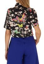 STYLE REPUBLIC - Cropped Shirt Multi-colour
