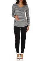 edit Maternity - Cross-over Long Sleeve T-shirt Grey