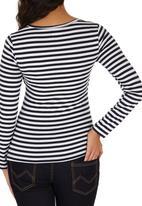 edit Maternity - Cross-over Long Sleeve T-shirt Multi-colour