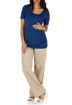 Cherry Melon - Side Gauge Short Sleeve T-shirt Navy