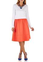 STYLE REPUBLIC - A-line Skirt Orange Orange