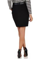 Suzanne Betro - Belted Bodycon Skirt Black Black