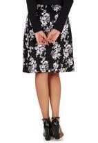 edit - Floral-print A-line Skirt Multi-colour Multi-colour