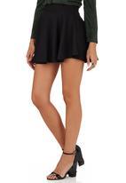 Suzanne Betro - Basic Flare Skirt Black Black