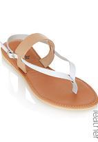 edit - Colour Block Sandals White