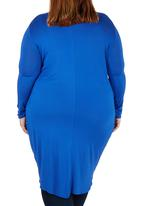 STYLE REPUBLIC - Draped Tunic Mid Blue