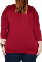 edit - Cowl T-shirt Dark Red