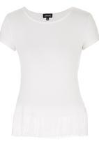 c(inch) - Fringed T-shirt Milk
