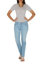 edit - Straight Leg Jeans Pale Blue