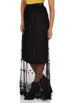 Mishmash - Lace Maxi Skirt Black