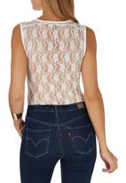 STYLE REPUBLIC - White lace bodysuit White