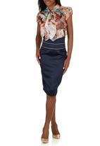 Sober - Lover High-waist Skirt Navy