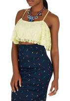 Leandra Designs - Flared Crop Top Yellow