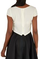 c(inch) - Blouse with Square Detail Milk