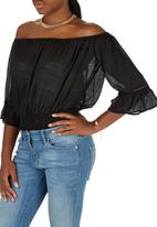 c(inch) - Peasant Blouse Black