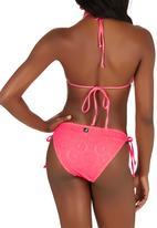 KANGOL - Frill Triangle Bikini Set Coral