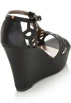 Dolce Vita - Cut Out Wedges Black