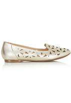 Sam Star - Leather Cut-out Pumps Gold
