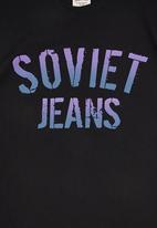 SOVIET - Boys Logo Print Tee Black