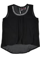 POP CANDY - Chiffon Top Black