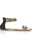 Awol - Patent Sandals Black