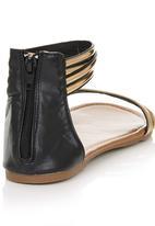 Awol - Patent Sandals Black