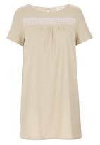 edit - Embroidery Tunic Stone/Beige
