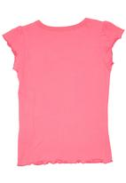 GUESS - Scalloped Edge T-Shirt Mid Pink