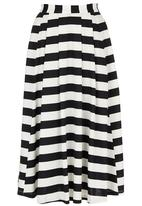 STYLE REPUBLIC - Stripe 50s Skirt Black and White