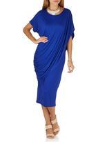 Jo Champ - Two-piece Drape Dress Cobalt