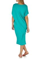 Jo Champ - Two-piece Drape Dress Turquoise